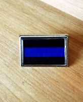 Thin Blue Line Police Lapel Pin Tie Tac Police Support Blue Lives Matter Pin