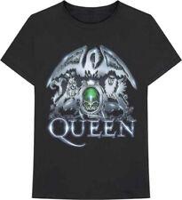 Queen-Freddie Mercury-Metal Crest-X-Large Black T-shirt