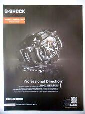 PUBLICITE-ADVERTISING :  CASIO G-Shock Gravity Master  2014 Montres