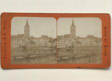 Suisse Zurich Photographie Stereo Vintage Albumine c1870