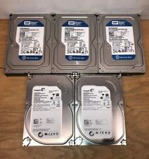"Lot of 5 Western Digital Seagate HGST 250GB SATA 3.5"" HDD Internal Hard Drive"
