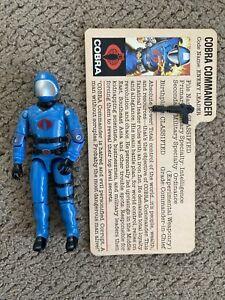 1982 1983 Gi Joe Vintage Cobra Commander Complete Hasbro Action ARAH  Bright Blu