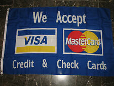 3x5 Advertising We Accept Visa MasterCard Flag Store Banner Business Credit Sign