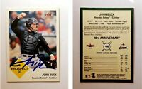 John Buck Signed 2003 Fleer Tradition #456 Card Houston Astros Auto Autograph