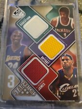 KOBE BRYANT/LEBRON JAMES/BIG O 2009 UPPER DECK SP GU TRIPLE JERSEY CARD #02/35