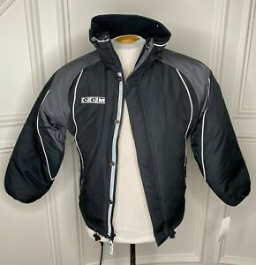 CCM Youth Lined Team Black Travel Jacket 7472
