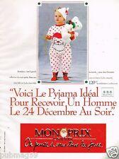 Publicité advertising 1989 Les Pyjamas pour enfants Monoprix
