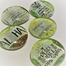 Pineapple Magnets - Pack of 5 - Ultra Sparkle -  Fridge magnets / Office magnets