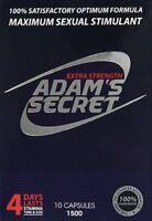 Adam Secret Male Sexual Enhancement Pills Men Performance Enhancer 1500 10 PACKS