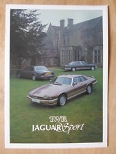 JAGUAR SPORT TWR 1986 UK Mkt Glossy Brochure - XJS XJ Series III XJ40 Sovereign