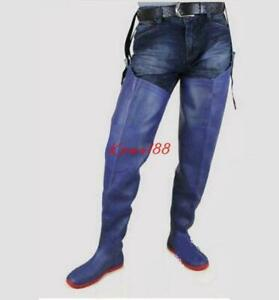 Mens Rubber Rain Over Knee High Boots Anti-water Work Casual Non slip Shoes