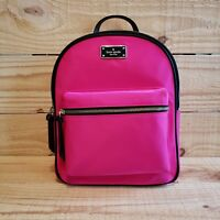 45c44978bc Kate Spade Small Bradley Wilson Road Backpack Pink Leather Book Bag Nylon  School