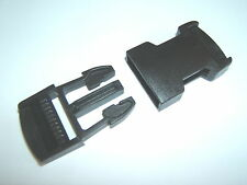 Un 25mm Pom Delrin lanzamiento Lateral de plástico de cincha de equipaje Correa Sujetador Clip De Hebilla