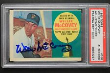 Willie McCovey 1960 Topps #316 All Star Signed Autographed Rookie Card PSA