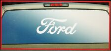 ford powerstroke f 150 rear window graphics sticker decal  white