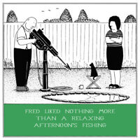 Relaxing Fishing Funny Fred Birthday Card Rupert Fawcett Humour Greeting Cards