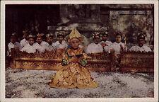 INDONESIEN Vintage Postcard Nederlandsch Indie ca. 1940 Barisdanser Natives
