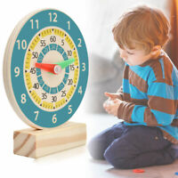 Wooden Clock Kids Educational Toy Children Learning Time Teaching Aid Tools New