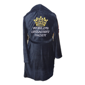 PERSONALISED DRESSING GOWN - LARGE - ANY TEXT  - WITH /OUT CROWN - EMBROIDERED