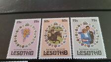 LESOTHO 1981 SG 451-453 ROYAL WEDDING (1ST ISSUE)  MNH