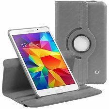 """GREY 360 CASE FOR SAMSUNG GALAXY TAB 4 8.0"""" T330 ROTATING COVER STAND"""