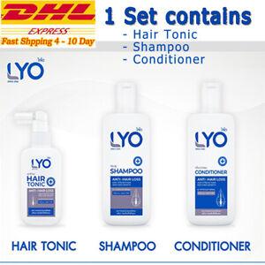 1 Set LYO Hair Lotion Tonic Shampoo Conditioner Growth Hair Loss Beard Prevent