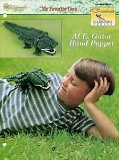 Al E. Gator Hand Puppet ~ Alligator Hand Puppet, Crochet Collector's pattern