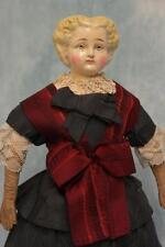 """17"""" Antique Painted German Papier Mache 'Indestructible Doll Head No. 2' c.1880"""