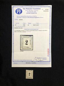 HAWAII: USED #24 NO GUM, W/PF CERTIFICATE CV $350