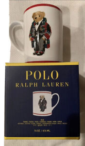 NIB RALPH LAUREN 14 oz Polo Bear Large Mug Cup Limited Edition Tuxedo Toggle