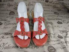 Softspots Women's Coral Open Toe Cork Heels Sandals Size 8.5 M