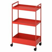 IKEA Rollregal Küchenregal Nischenregal Allzweckregal Etagenwagen Rollwagen Rot