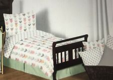 5 PC Sweet Jojo Arrow Girl Toddler Comforter Bedding Set - New