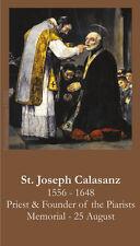 St. Joseph Calasanz Prayer Card (wallet size)