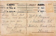 Genealogy Postcard - Family History - Bryars - Waterloo Cash Stores, Hull  803A