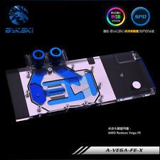 Bykski AMD Radeon RX Vega 58/64/FE VGA Water cooling Block RGB LED+Backplane