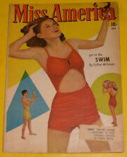 Miss America July 1947 early 10 cent Comic – Esther Williams! Nice See!