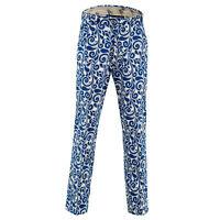 Club Swirls Golf Trousers By Royal & Awesome Funky & Loud Slacks Pants Curling