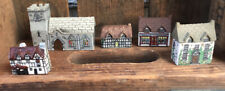 Lot Of Miniature Ceramic Houses, Made In England
