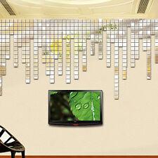100 stk 3D Mosaik Acryl Spiegel Wandtattoo Wandsticker Wanddeko Aufkleber Deko F