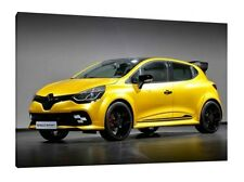 2016 Renault Clio RS  - 30x20 Inch Canvas Framed Picture Wall Art Print