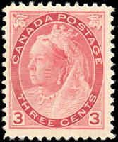 1898 Mint NH Canada F+ Scott #78 3c Queen Victoria Numeral Issue Stamp