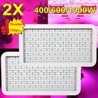 2X 400/600/1000W LED Full Spectrum Grow Light Panel Plant Veg Lamp Double Chip G
