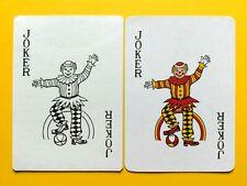 2 Clown Jester One Foot on Ball In Rainbow JOKER Swap Playing Cards Marlboro