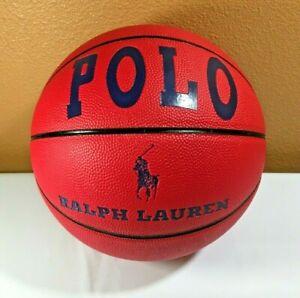 VINTAGE RARE? 1990's Ralph Lauren Polo Basketball Ball - Red Blue Flag - NICE!