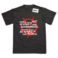 PEOPLE AND GOVERNMENTS INSPIRED BY V FOR VENDETTA PRINTED T-SHIRT