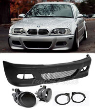 For 00-05 BMW E46 3-Series 2Dr M3 Style Front Bumper & smoke fog lights Coupe