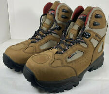 Women's Red Wing Steel Toe Hiking Boots Vibram Soles, Leather Size 8.5B