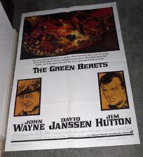 THE GREEN BERETS original 1968 27x41 one sheet movie poster JOHN WAYNE