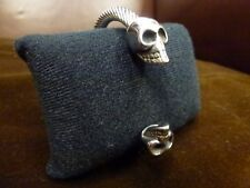 Stainless steel twisted skull Unisex bangle bracelet reenactment viking larp NEW